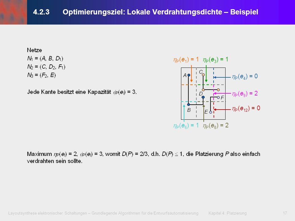 4.2.3 Optimierungsziel: Lokale Verdrahtungsdichte – Beispiel