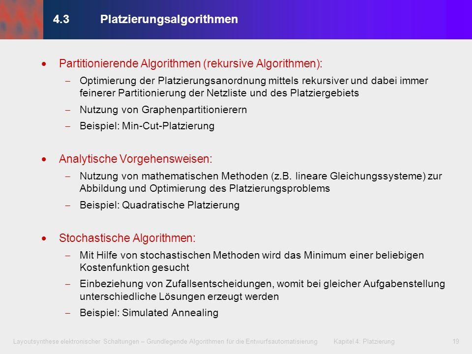 4.3 Platzierungsalgorithmen