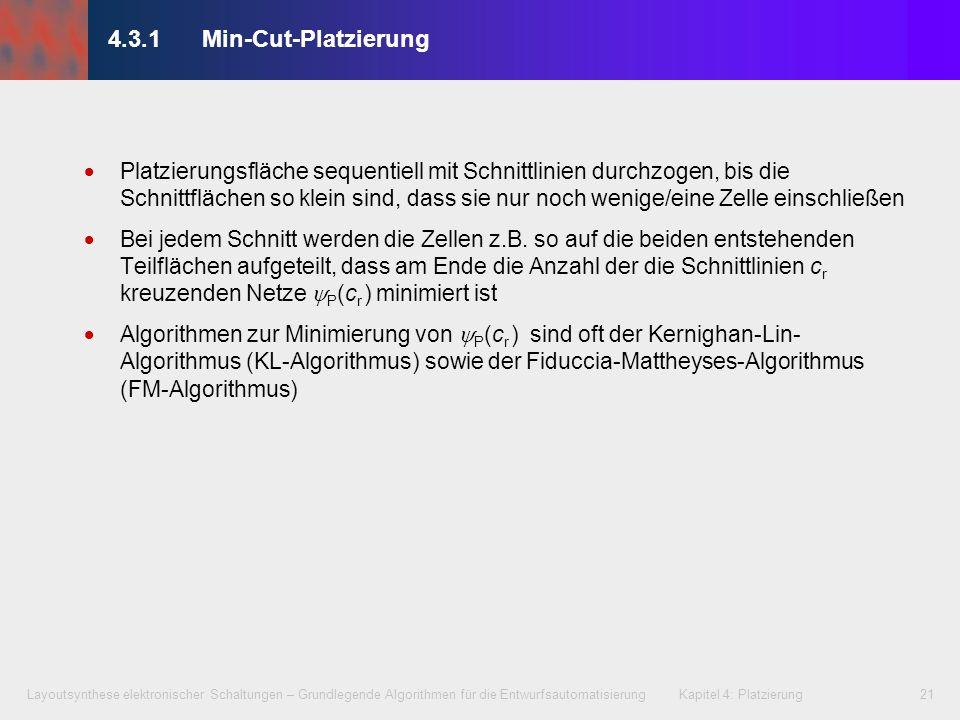 4.3.1 Min-Cut-Platzierung