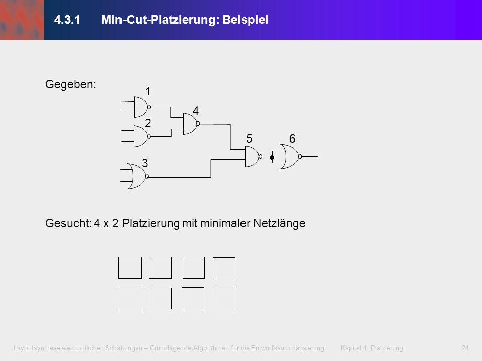 4.3.1 Min-Cut-Platzierung: Beispiel