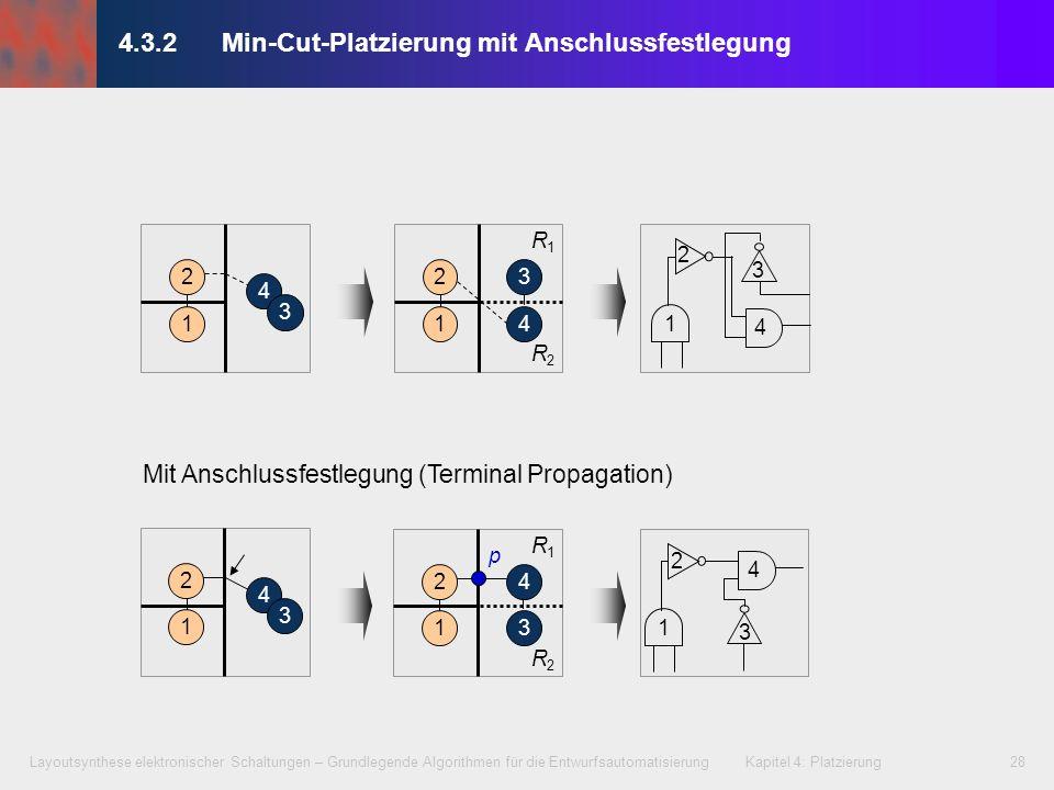 4.3.2 Min-Cut-Platzierung mit Anschlussfestlegung