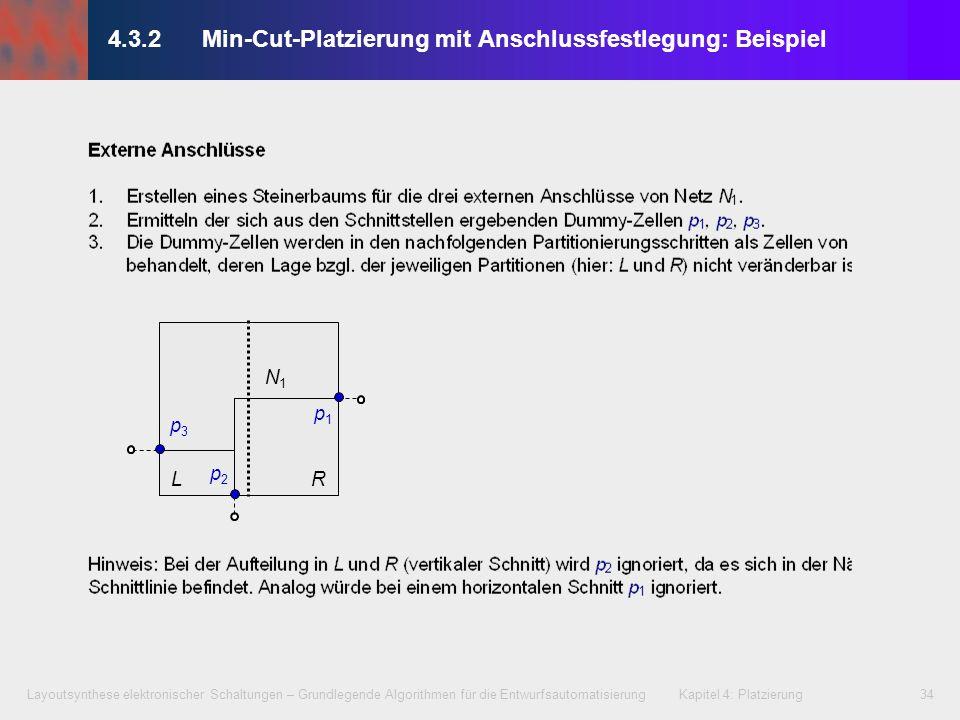 4.3.2 Min-Cut-Platzierung mit Anschlussfestlegung: Beispiel