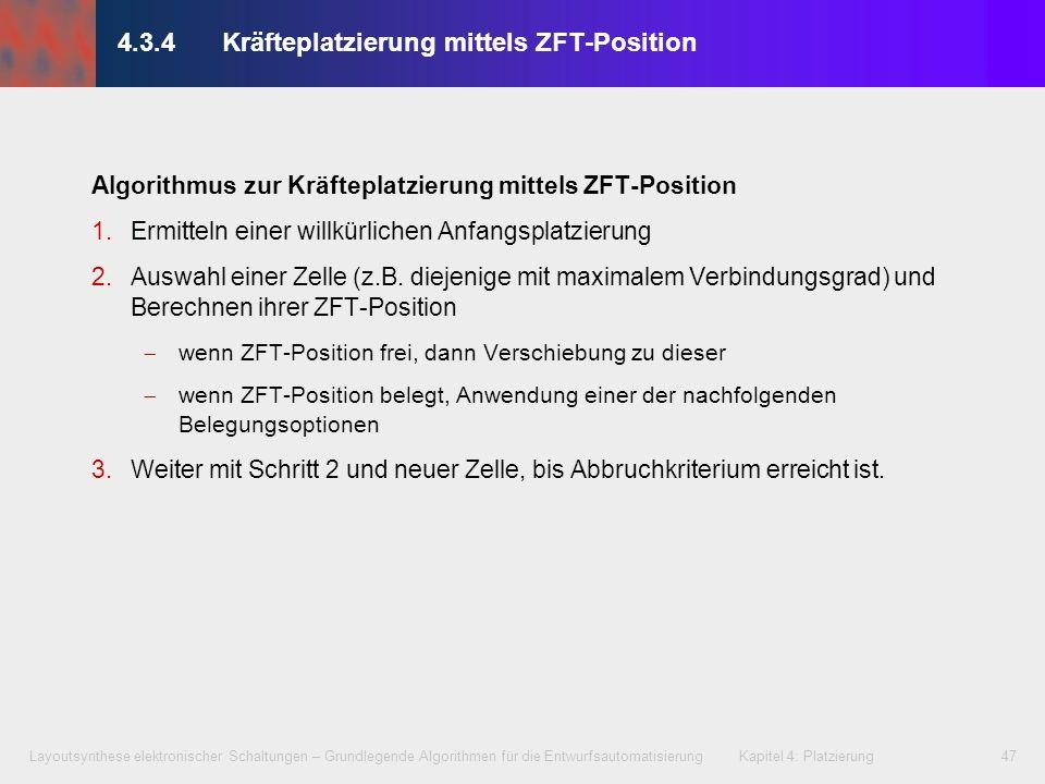 4.3.4 Kräfteplatzierung mittels ZFT-Position