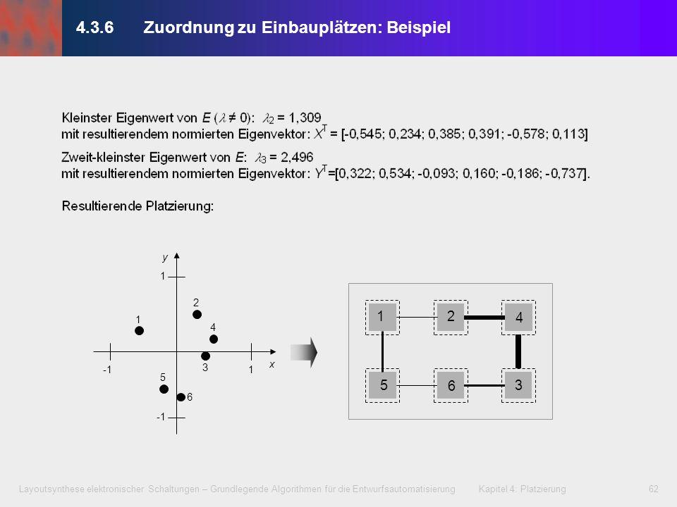 4.3.6 Zuordnung zu Einbauplätzen: Beispiel
