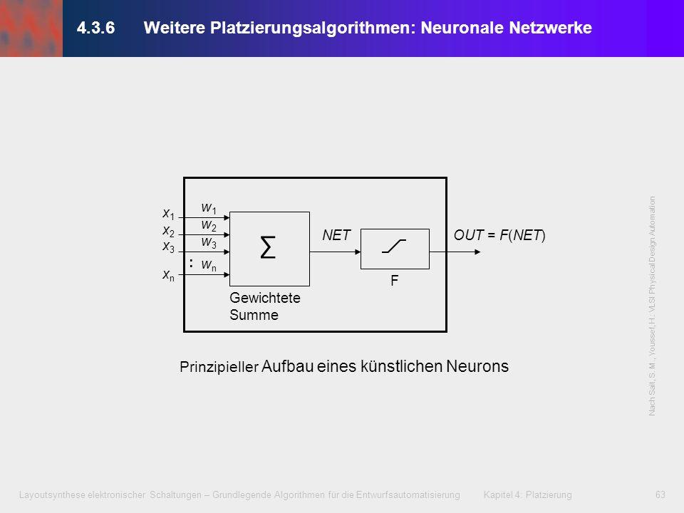 4.3.6 Weitere Platzierungsalgorithmen: Neuronale Netzwerke