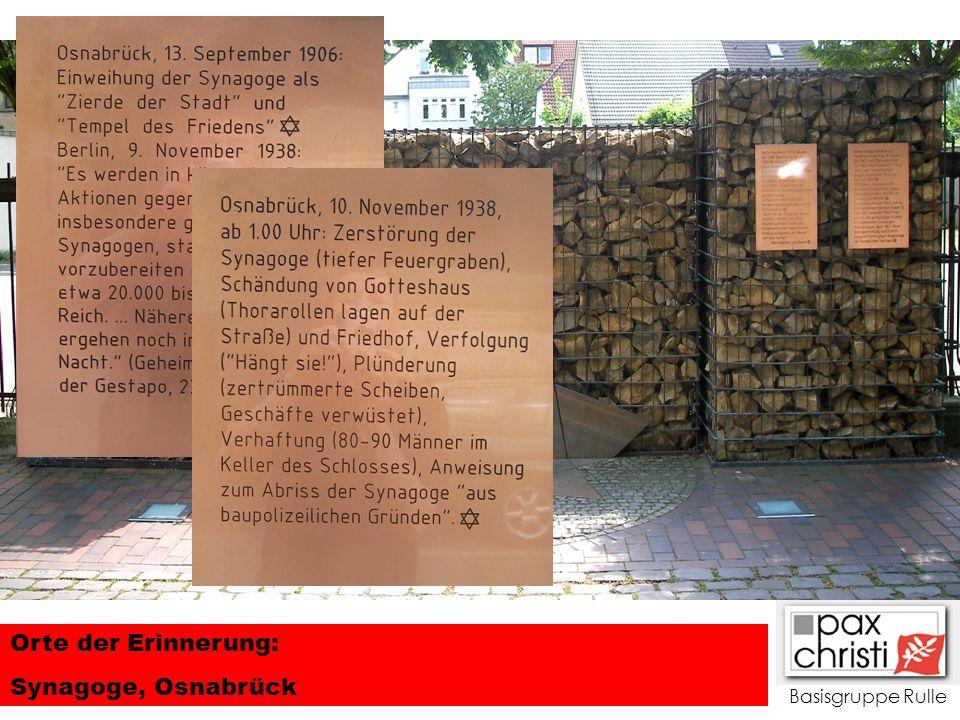 Orte der Erinnerung: Synagoge, Osnabrück Basisgruppe Rulle