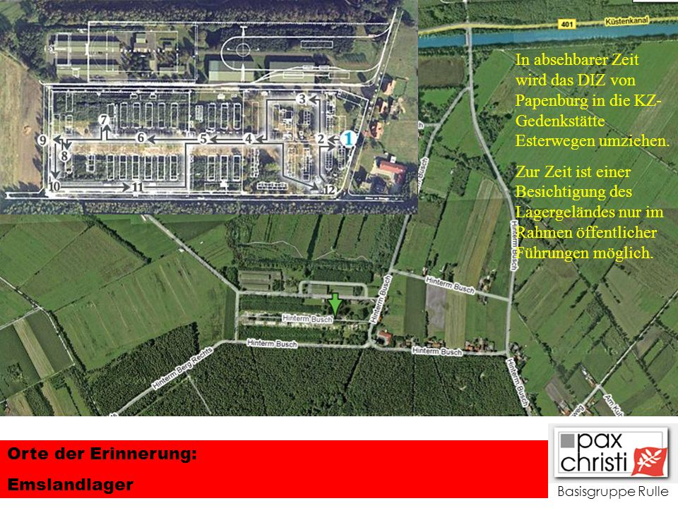 In absehbarer Zeit wird das DIZ von Papenburg in die KZ-Gedenkstätte Esterwegen umziehen.