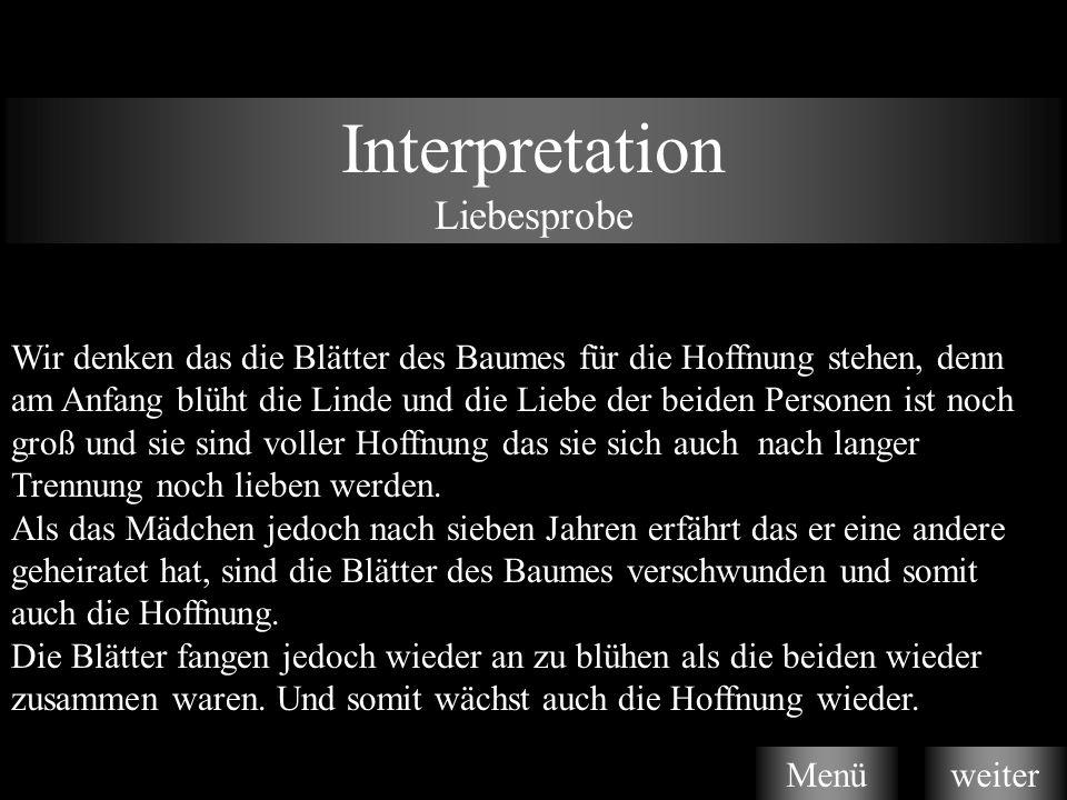 Interpretation Liebesprobe