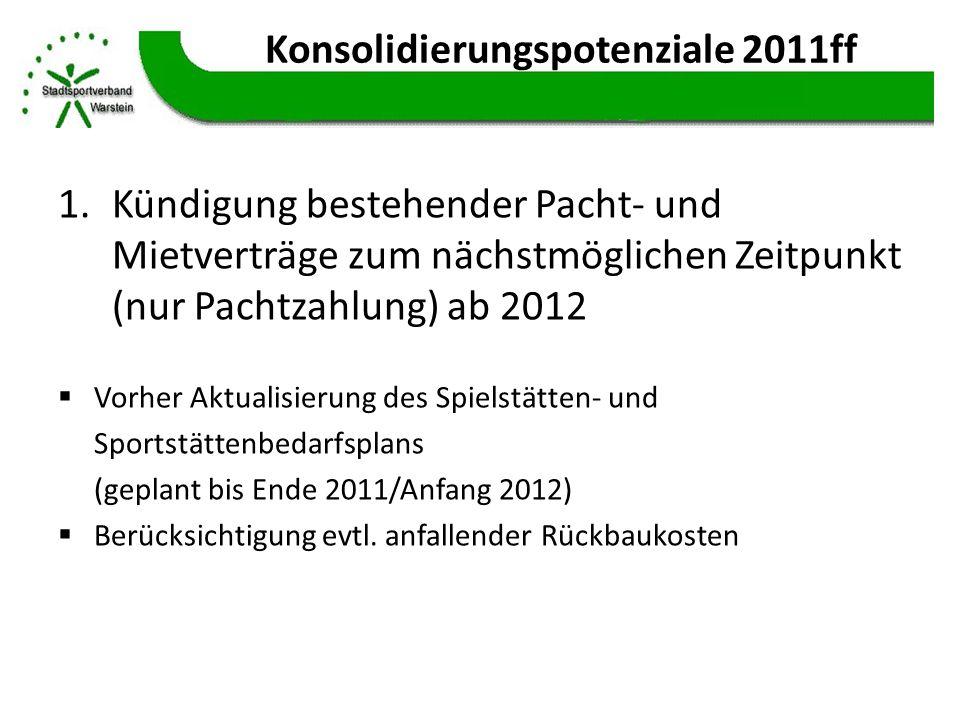 Konsolidierungspotenziale 2011ff