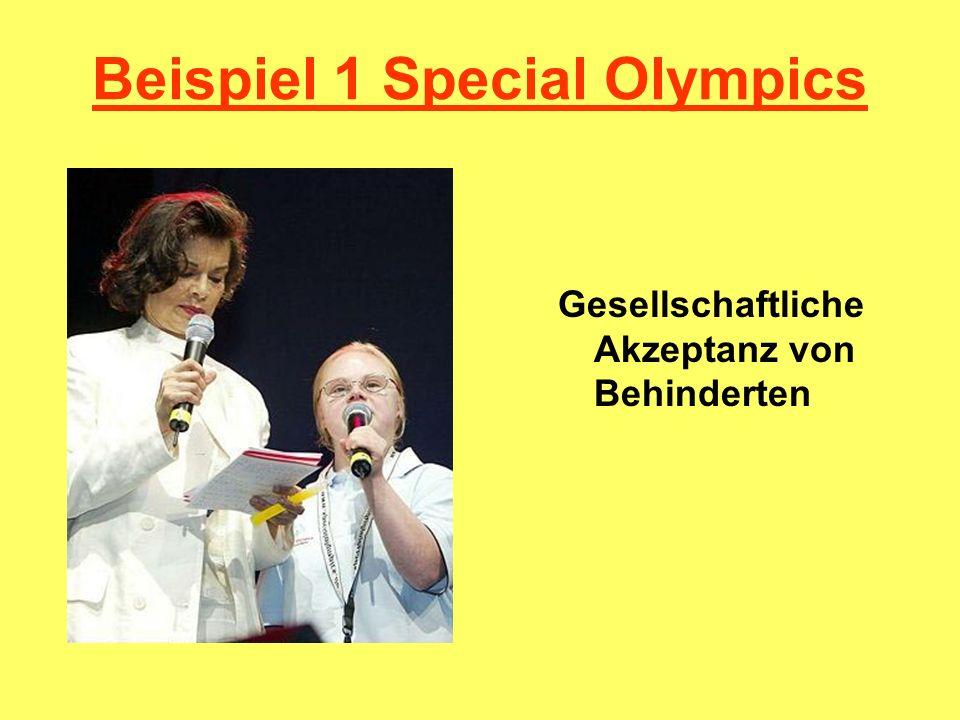 Beispiel 1 Special Olympics