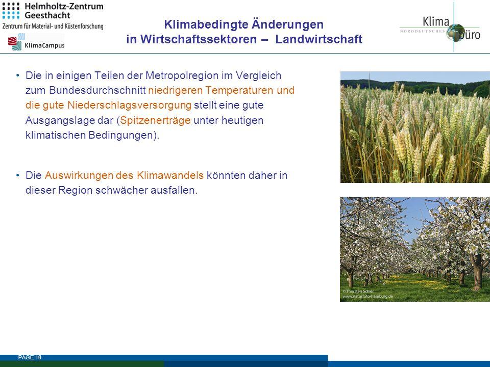 Klimabedingte Änderungen in Wirtschaftssektoren – Landwirtschaft