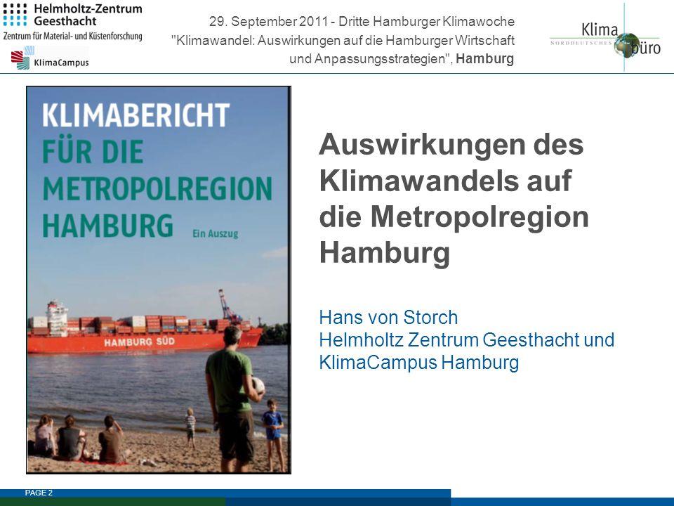 29. September 2011 - Dritte Hamburger Klimawoche Klimawandel: Auswirkungen auf die Hamburger Wirtschaft und Anpassungsstrategien , Hamburg