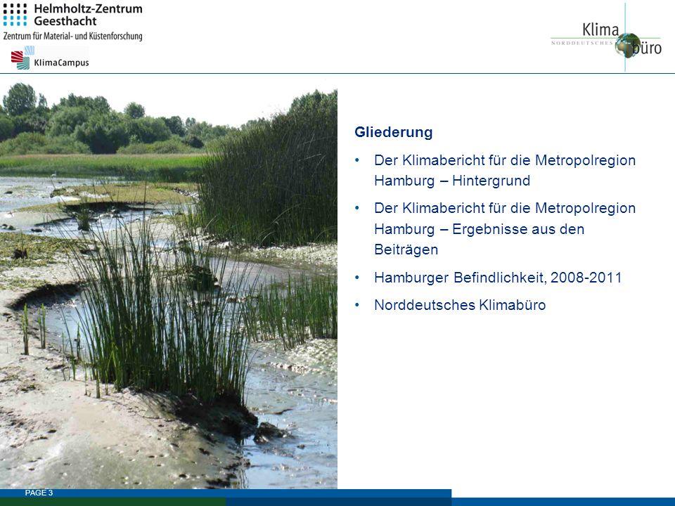 Gliederung Der Klimabericht für die Metropolregion Hamburg – Hintergrund.