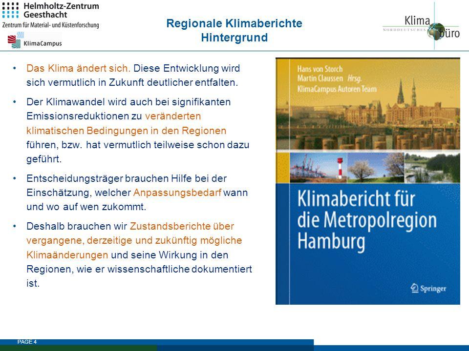 Regionale Klimaberichte Hintergrund