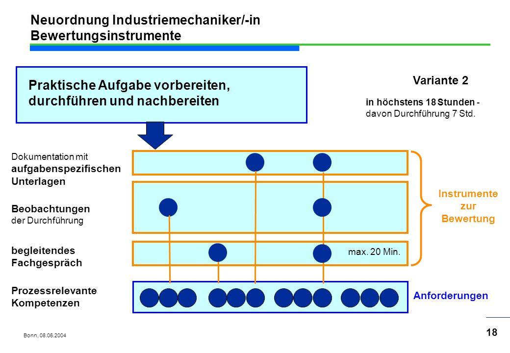 Neuordnung Industriemechaniker/-in Bewertungsinstrumente
