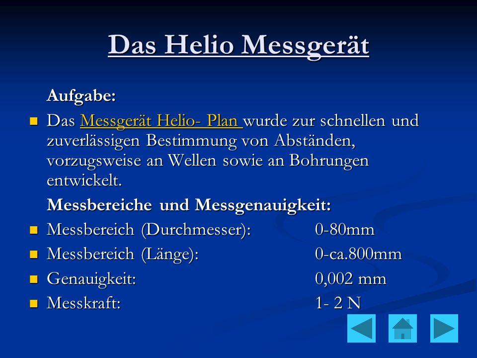 Das Helio Messgerät Aufgabe: