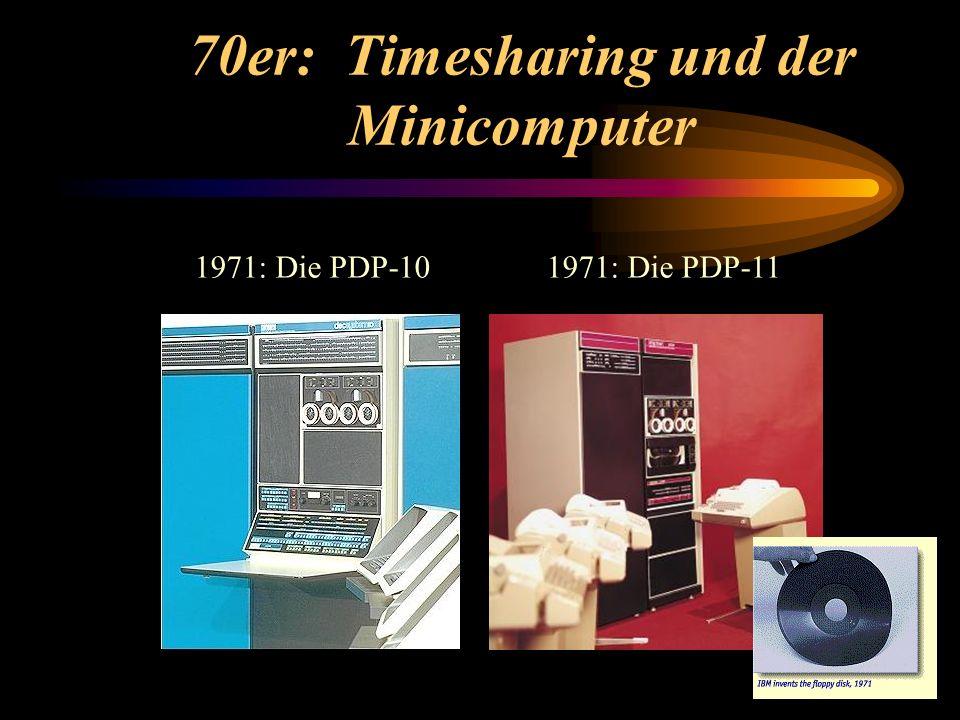 70er: Timesharing und der Minicomputer
