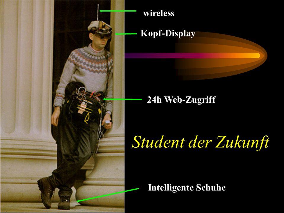 Student der Zukunft wireless Kopf-Display 24h Web-Zugriff