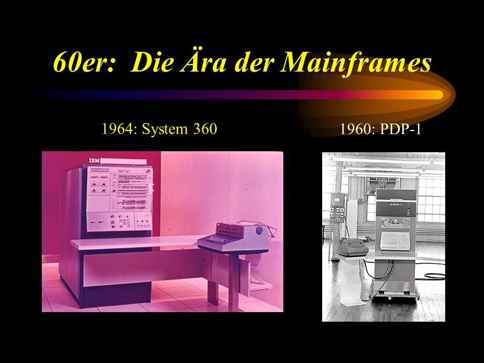 60er: Die Ära der Mainframes