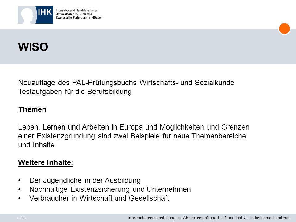 WISO Neuauflage des PAL-Prüfungsbuchs Wirtschafts- und Sozialkunde