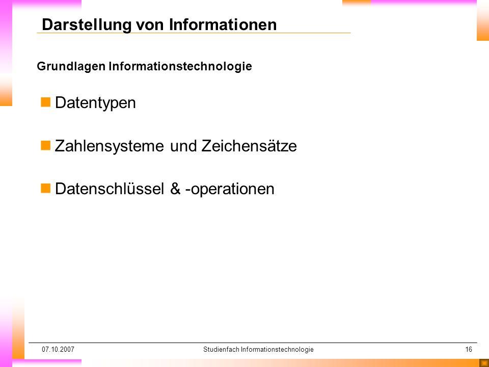 Darstellung von Informationen