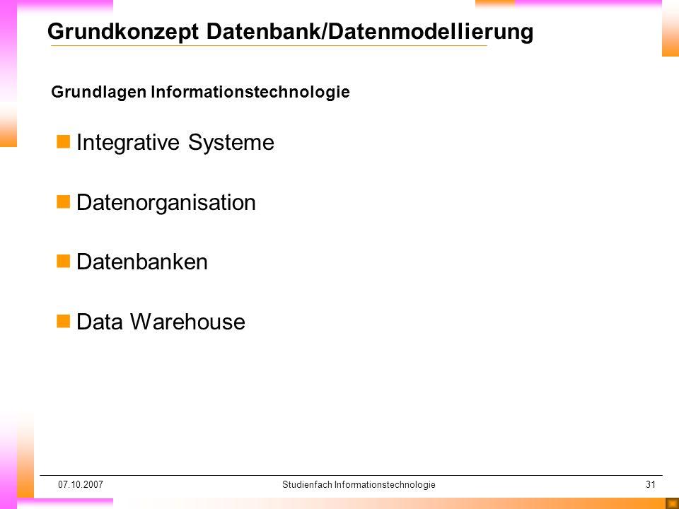 Grundkonzept Datenbank/Datenmodellierung