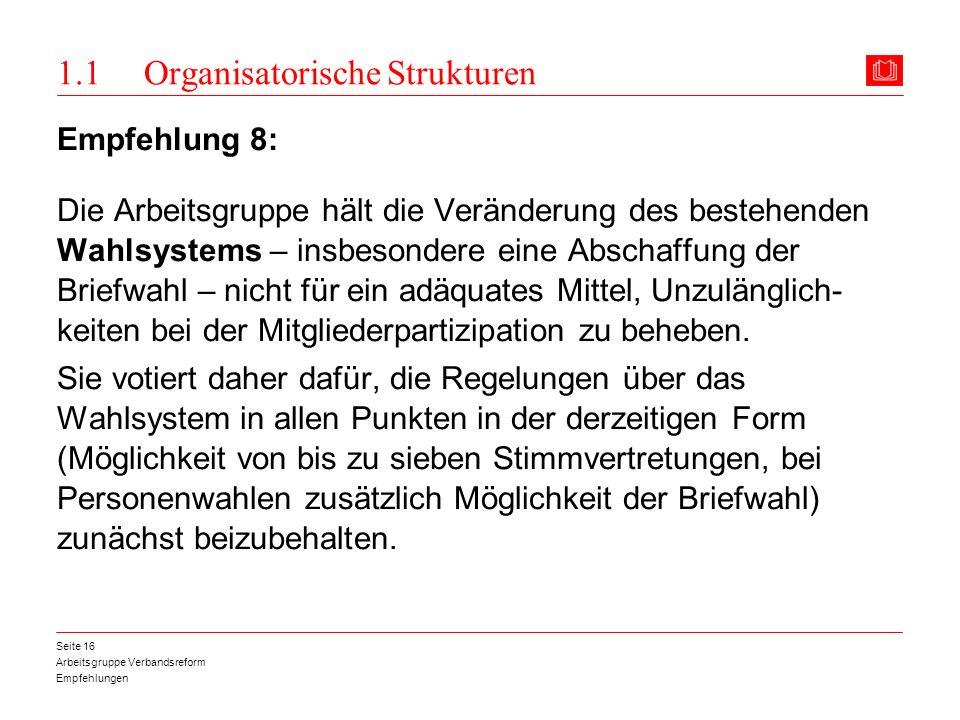 1.1 Organisatorische Strukturen
