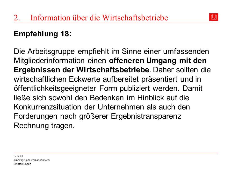 2. Information über die Wirtschaftsbetriebe