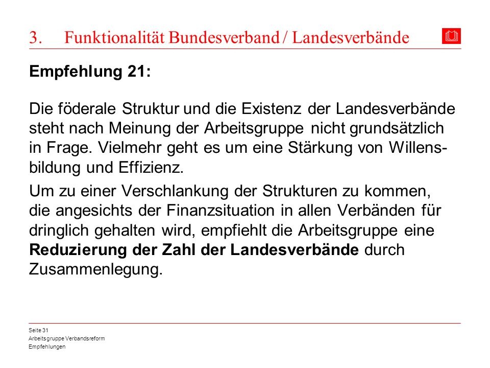 3. Funktionalität Bundesverband / Landesverbände