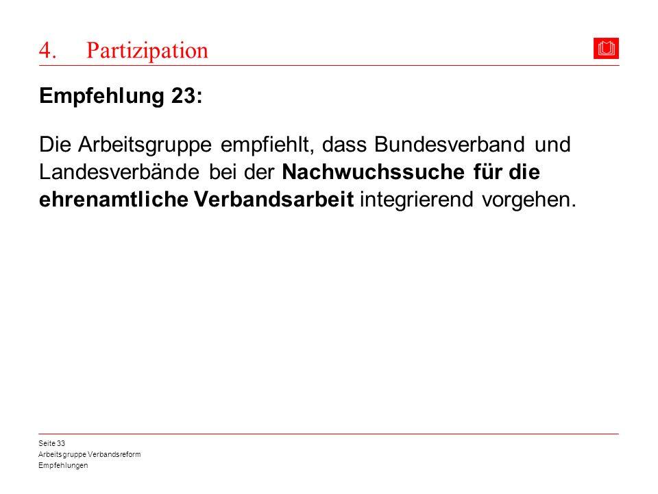 4. Partizipation Empfehlung 23:
