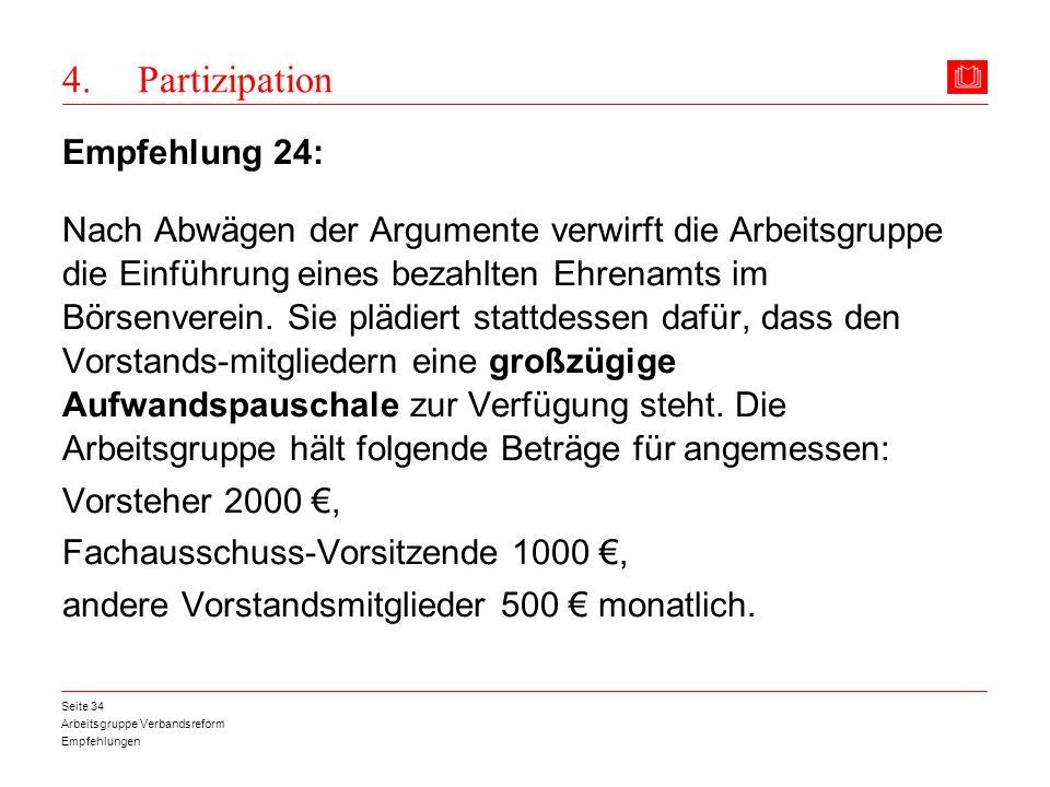 4. Partizipation Empfehlung 24: