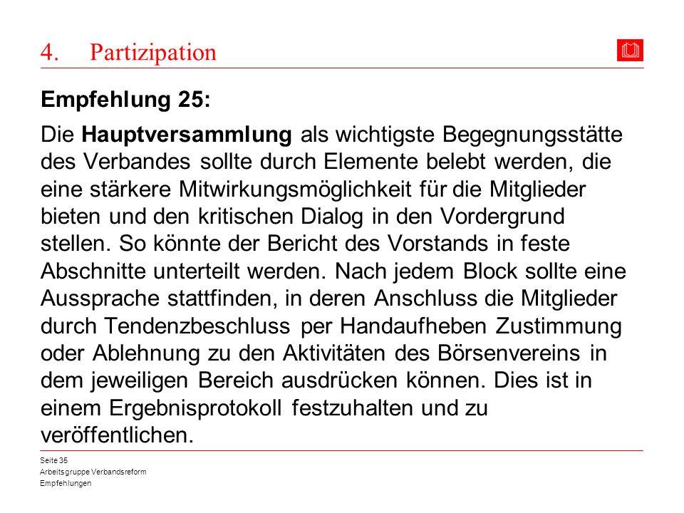 4. Partizipation Empfehlung 25: