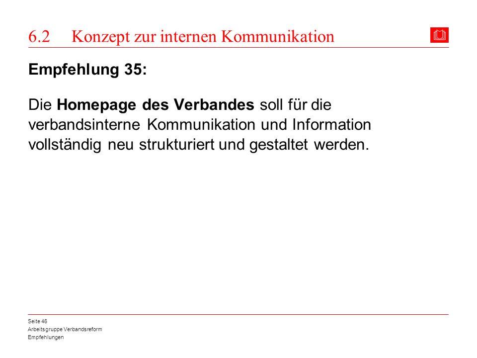6.2 Konzept zur internen Kommunikation