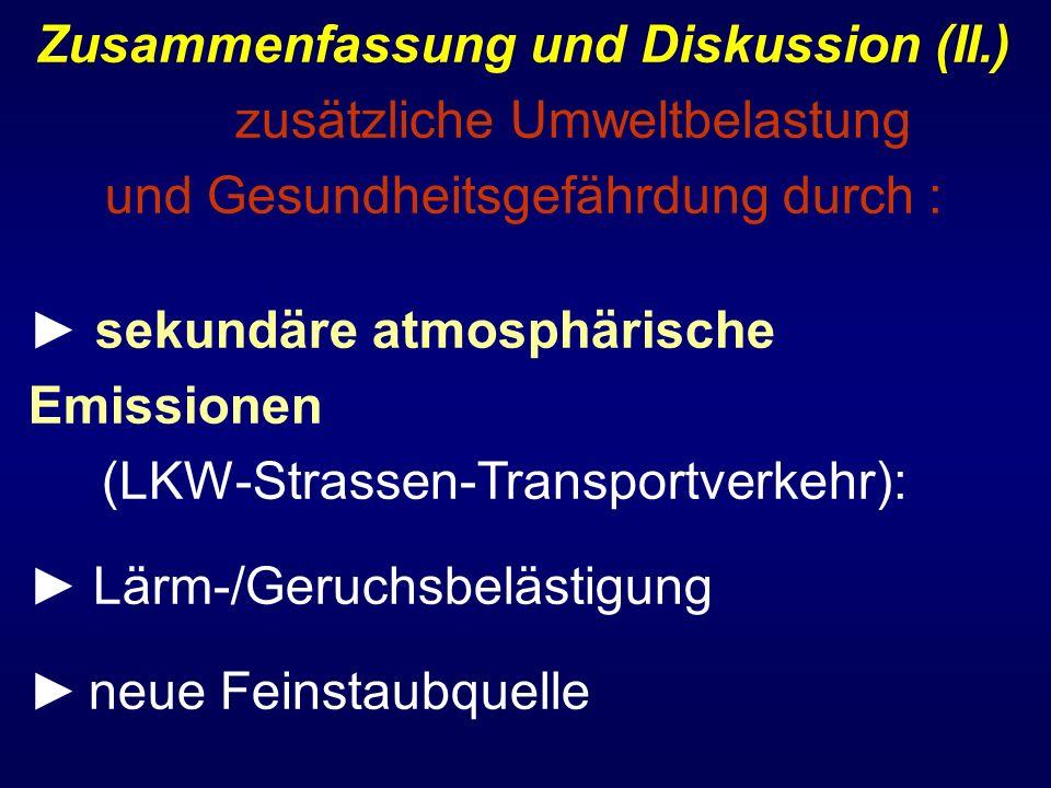 Zusammenfassung und Diskussion (II.)