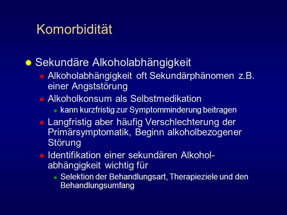 Komorbidität Sekundäre Alkoholabhängigkeit