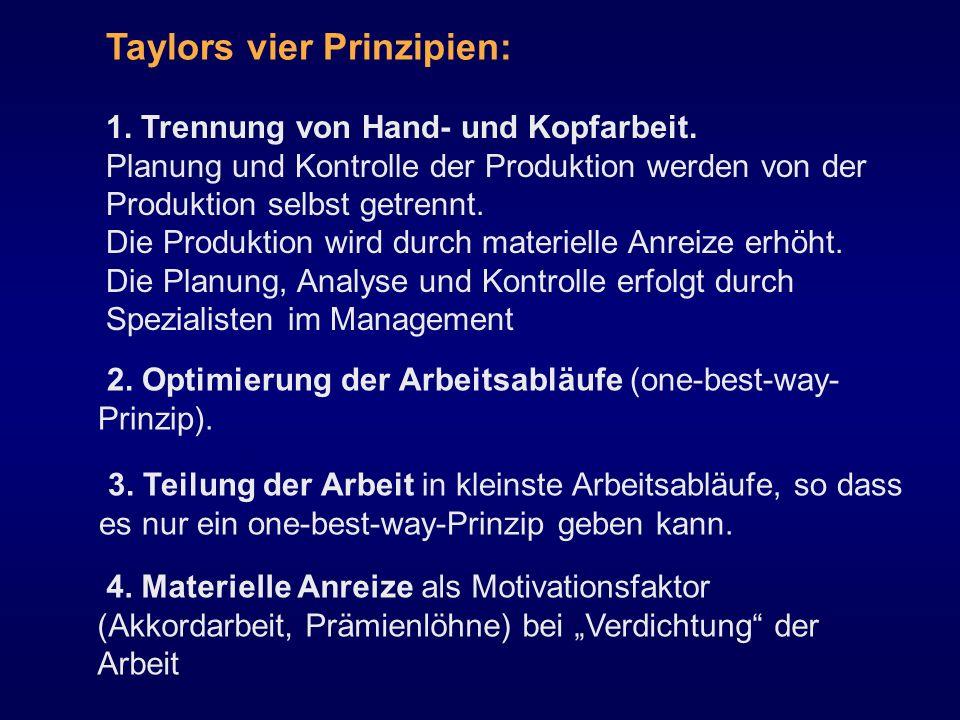Taylors vier Prinzipien: