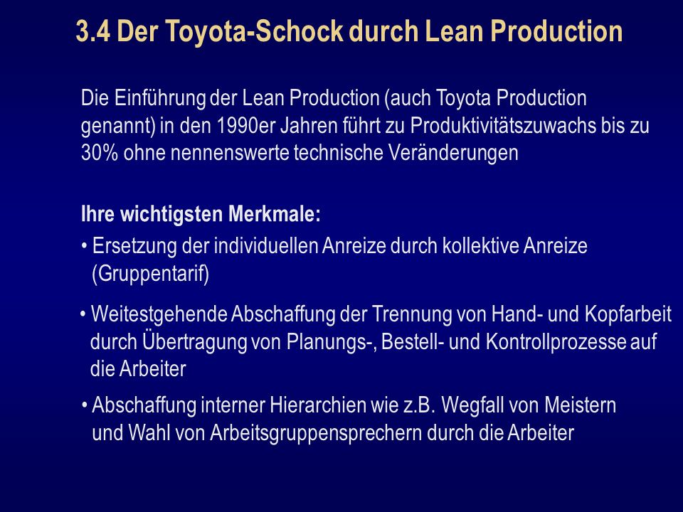 3.4 Der Toyota-Schock durch Lean Production