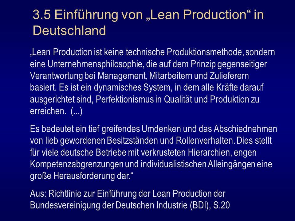 """3.5 Einführung von """"Lean Production in Deutschland"""