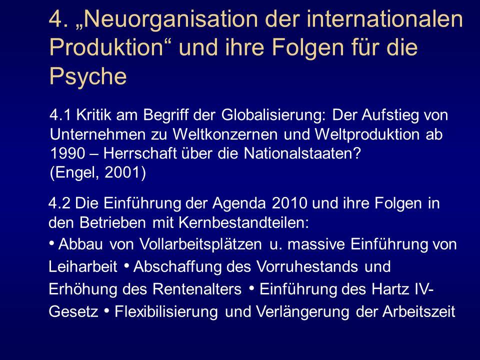 """4. """"Neuorganisation der internationalen Produktion und ihre Folgen für die Psyche"""