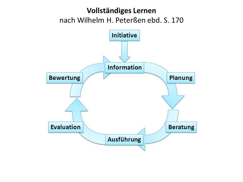 Vollständiges Lernen nach Wilhelm H. Peterßen ebd. S. 170