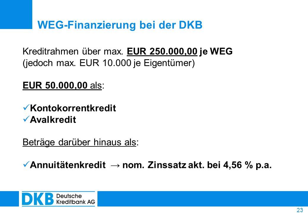 WEG-Finanzierung bei der DKB