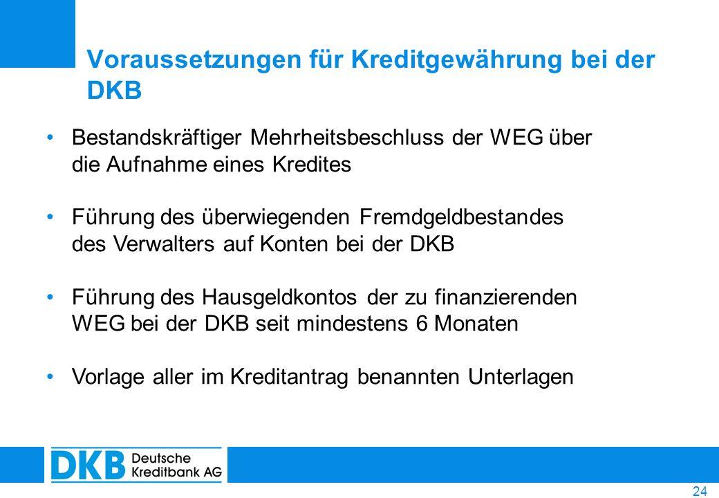 Voraussetzungen für Kreditgewährung bei der DKB