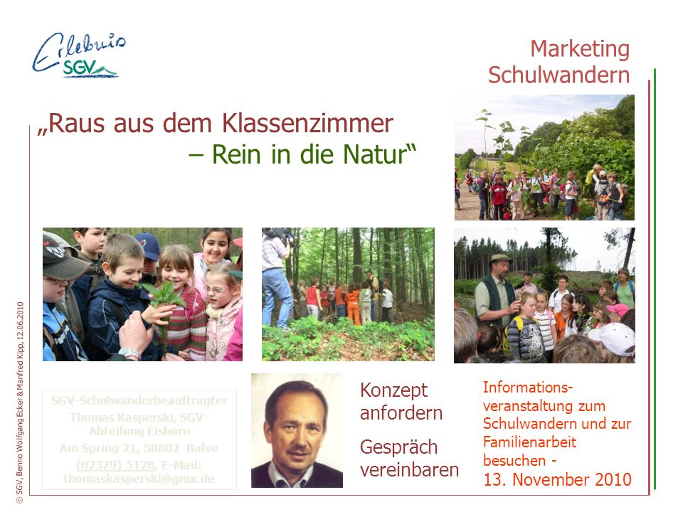 – Rein in die Natur Marketing Schulwandern