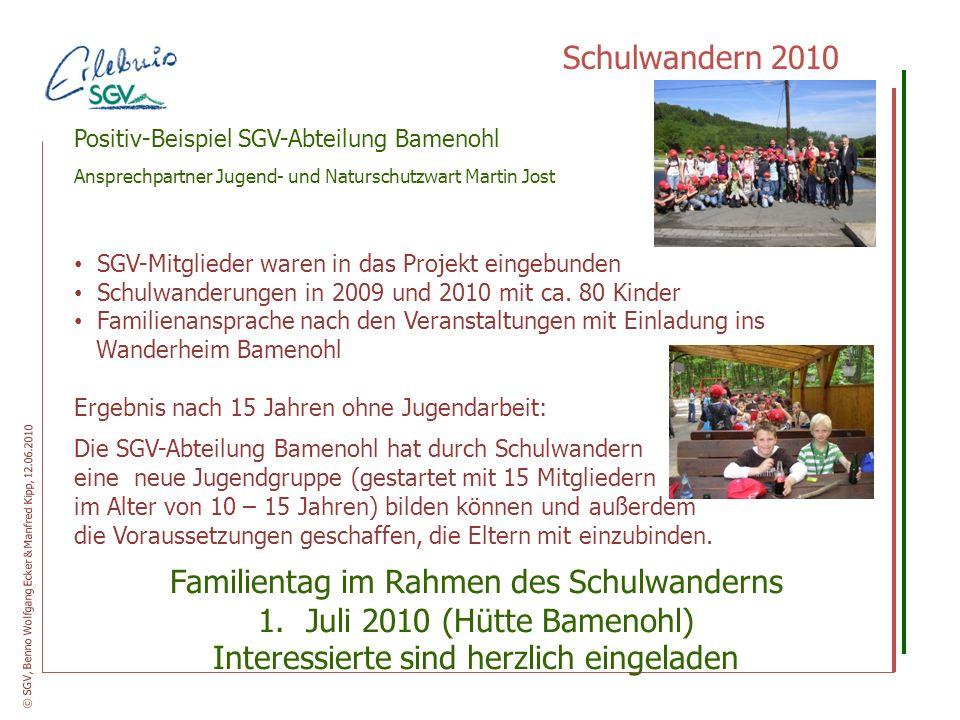 Familientag im Rahmen des Schulwanderns Juli 2010 (Hütte Bamenohl)