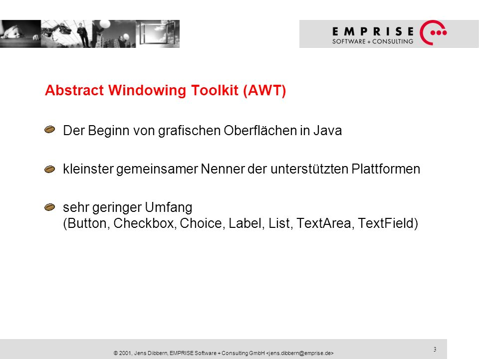 Abstract Windowing Toolkit (AWT)