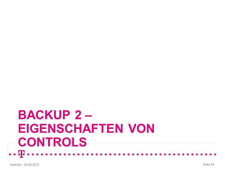 Backup 2 – Eigenschaften von controls