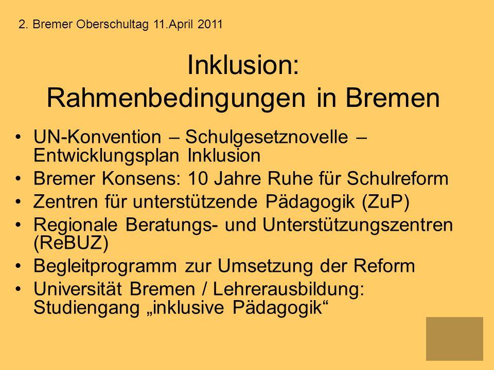 Inklusion: Rahmenbedingungen in Bremen