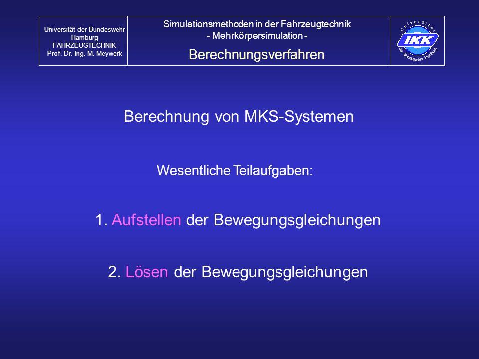 Berechnung von MKS-Systemen