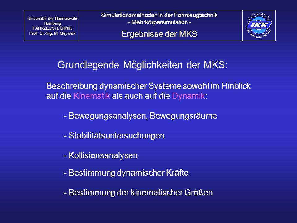 Grundlegende Möglichkeiten der MKS: