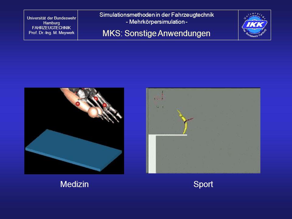 MKS: Sonstige Anwendungen
